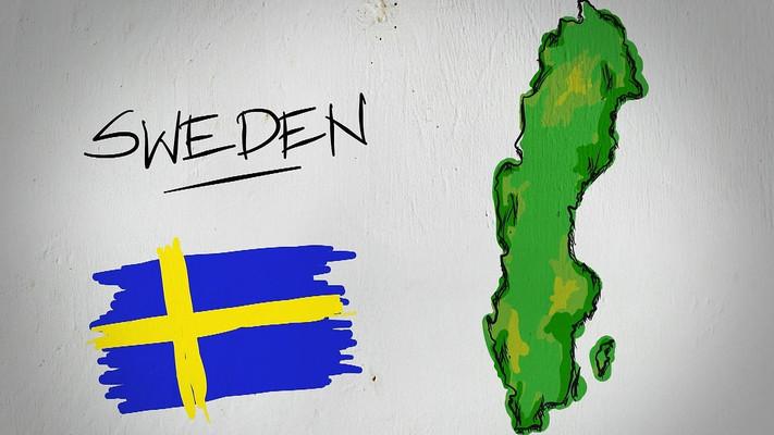 瑞典手绘涂鸦地图视频素材
