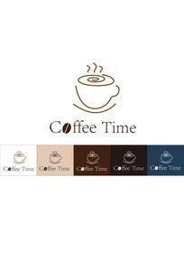 咖啡馆饮料奶茶餐饮美食logo标志AI