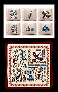 枕头印花民族图案