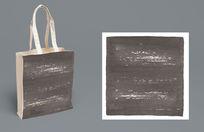 漂亮灰色水墨手拎袋