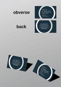 圆环设计大气高档名片模板
