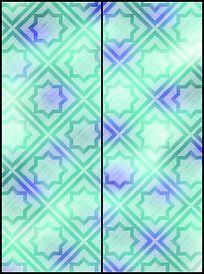 简单时尚几何移门图案