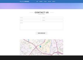 企业站时尚联系我们内页设计 PSD