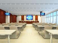 现代简约会议室3d模型下载