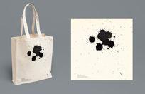 黑色墨点环保手拎袋