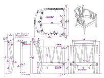 V形背休闲椅CAD素材