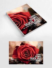 复古怀旧玫瑰花纪念册封面设计