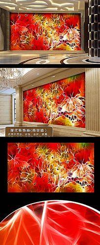 艺术色彩花卉墙画