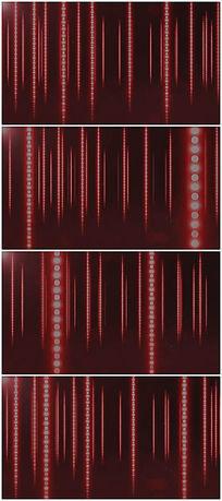 发光红色粒子链条背景视频素材