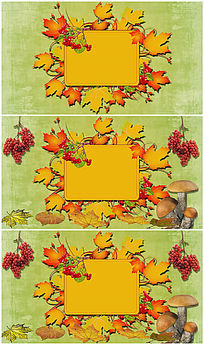 丰收的季节秋季主题背景视频素材