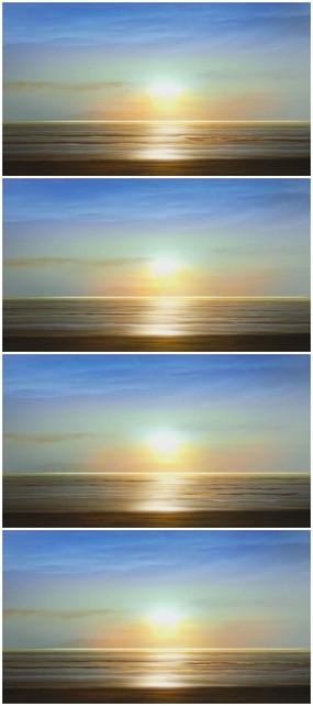海边太阳升起