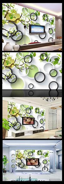 3D花朵电视背景墙装饰画