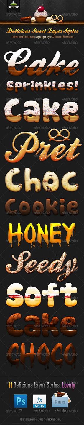 饼干字体巧克力字体3d字体可修改