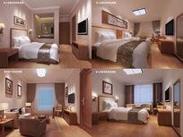 酒店宾馆房间3d模型max
