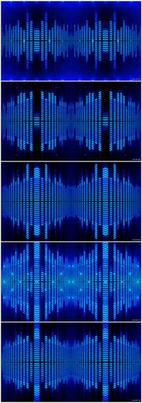 动感节奏音乐频率跳动动态VJ舞台视频素材