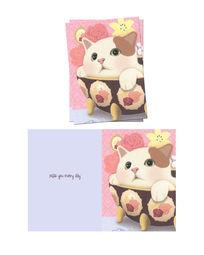 韩国插画碗里的猫咪本子封面