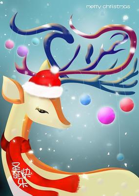 手绘圣诞帽