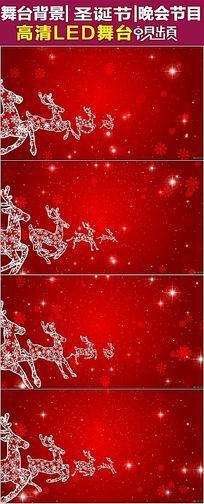 2款梅花鹿雪花飘落圣诞节视频素材