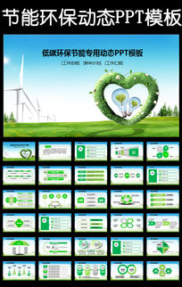 保护资源绿色环保节能低碳教育PPT模板