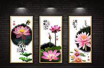 荷花禅境系列装饰画