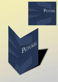 暗色几何简洁书籍画册封面