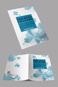 白色简约宣传册封面设计