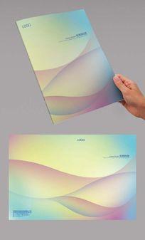 彩色弧线封面设计