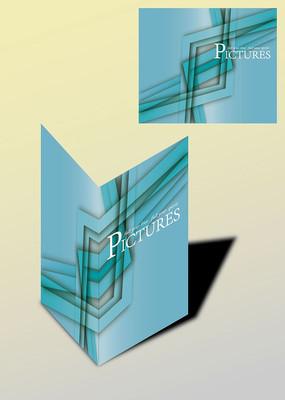 淡灰蓝欧式创意书籍画册封面