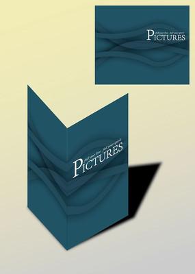 单色暗色弧形书籍画册封面