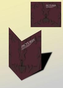 单色对称创意书籍画册封面