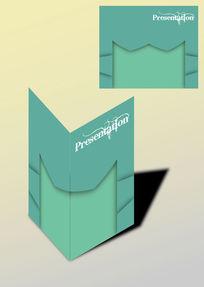 对称拼色书籍画册封面
