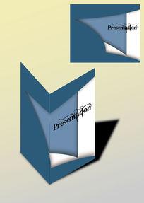 灰蓝白拼色书籍画册封面