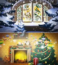 圣诞节新年片头模板