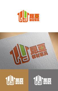 创意板材家具logo