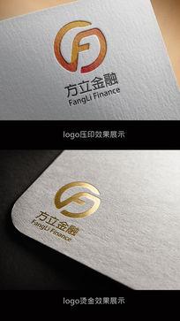简洁方立金融logo
