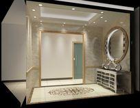 3D暖色欧式玄关模型与效果图