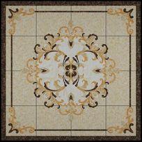 3D中性色瓷砖地花模型和效果图