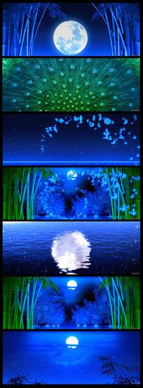 星空月色蝴蝶竹林LED视频