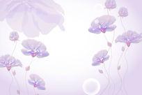 3D立体花卉玉雕背景墙