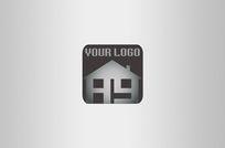 黑白家装房地产公司logo