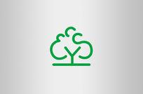 绿色树木业房地产logo