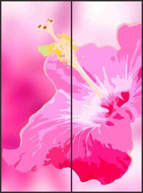 时尚娇艳花朵花纹移门图案