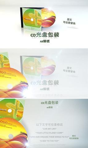 DVD光盘包装广告模板