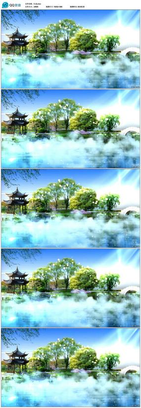公园湖水风景