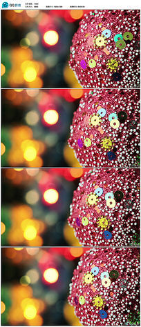旋转圣诞球视频素材