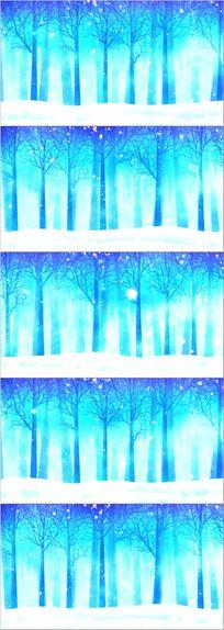 冬季雪花森林晚会歌曲歌唱舞台led背景
