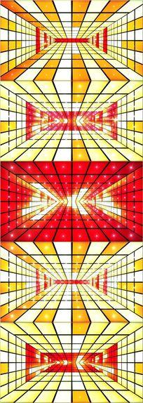 高清动感节奏LED音乐空间舞台背景