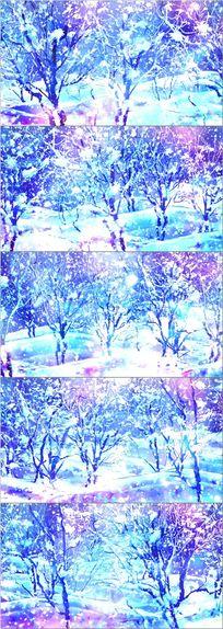 雪花飘落冬季舞台led背景