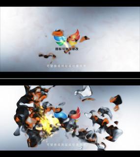 震撼爆炸特效标志片头AE模板
