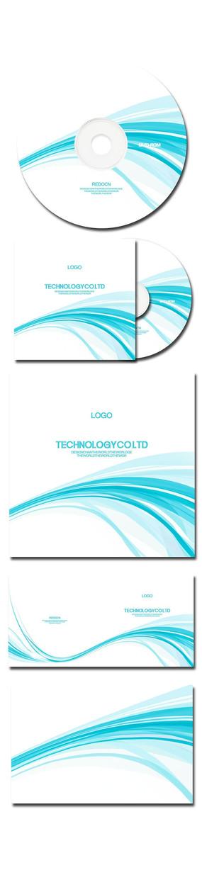 蓝色简洁大气科技光盘